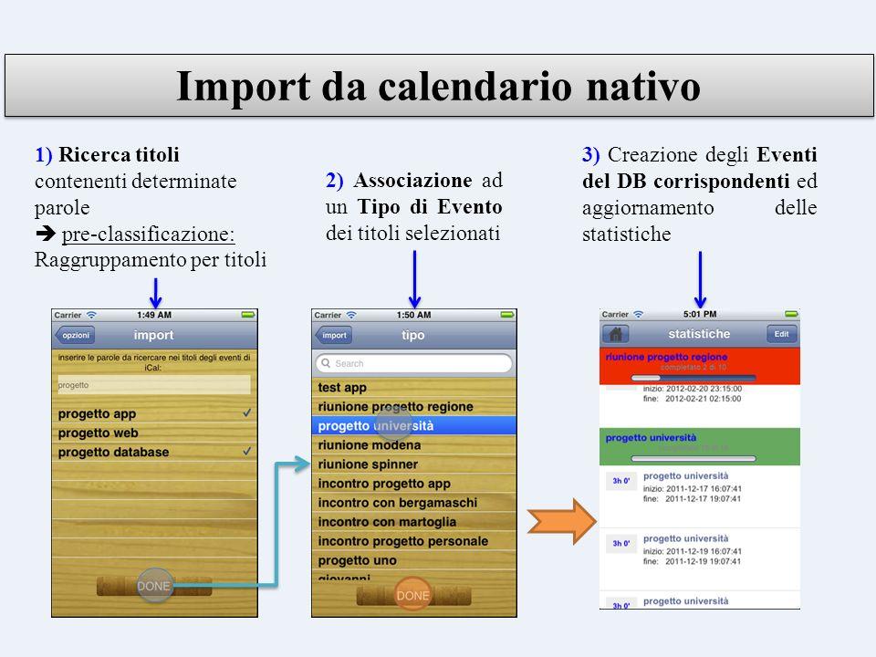 Import da calendario nativo