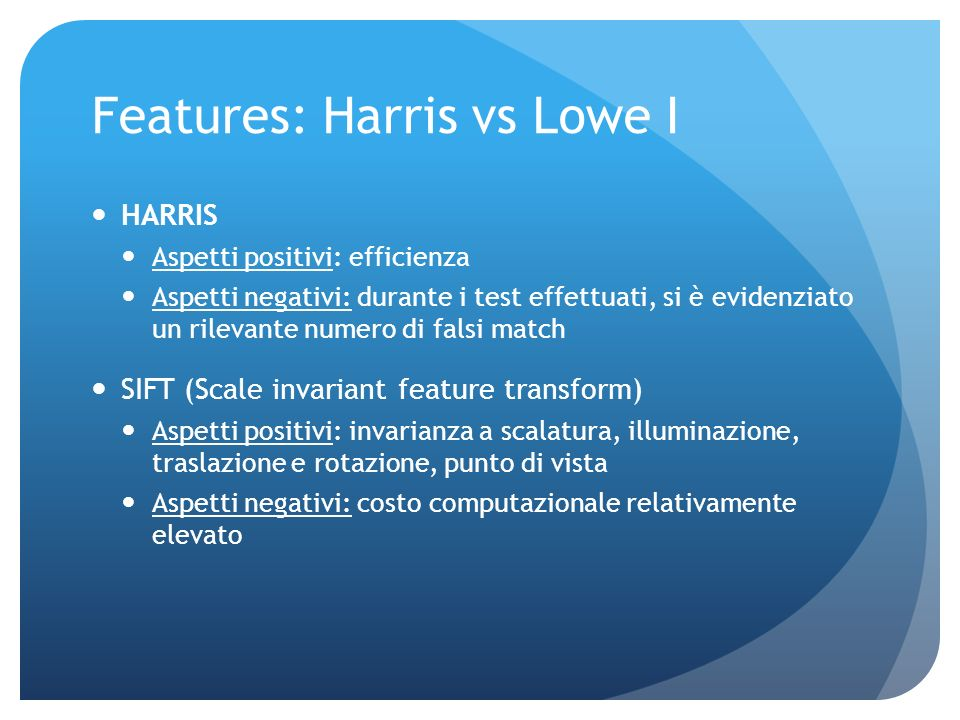 Features: Harris vs Lowe I
