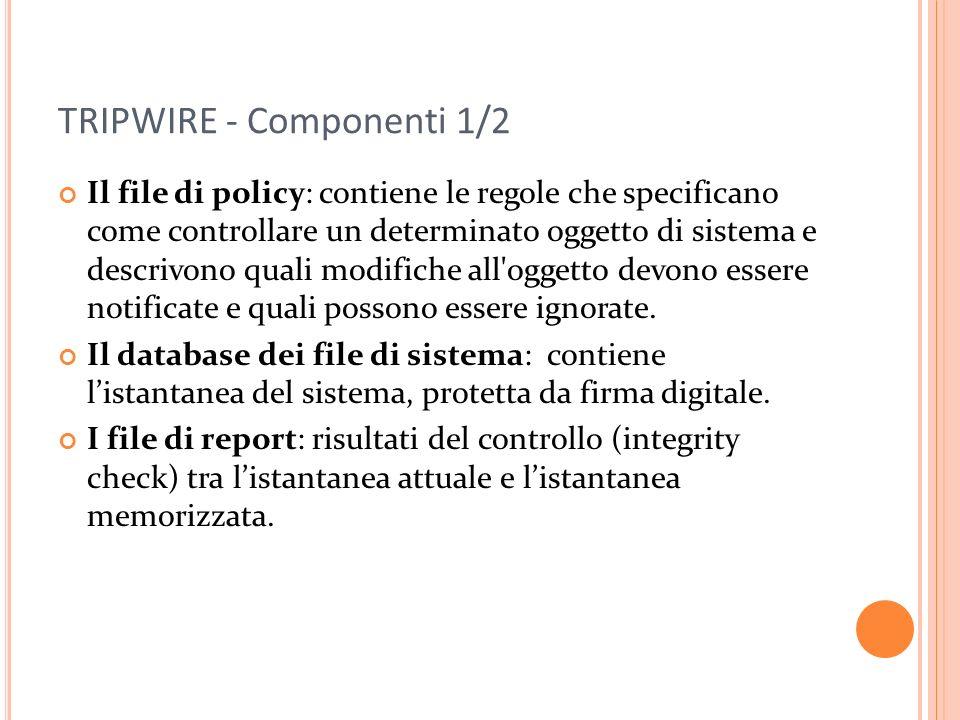 TRIPWIRE - Componenti 1/2