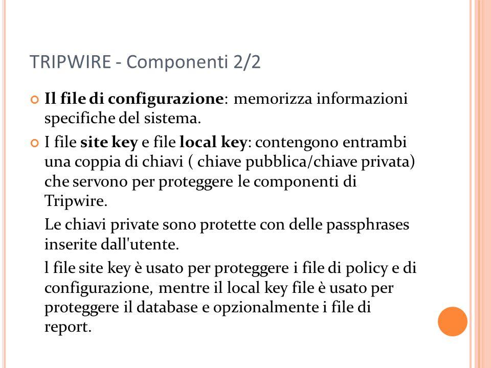 TRIPWIRE - Componenti 2/2