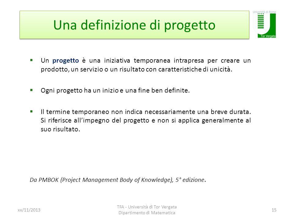 Una definizione di progetto