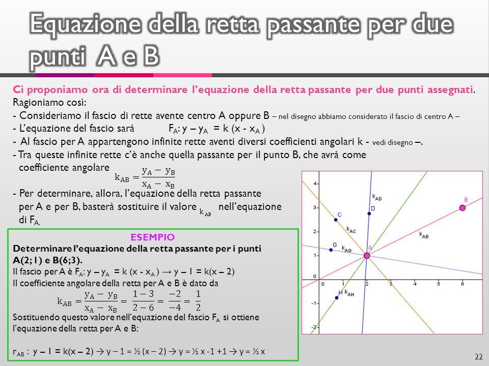 Equazione della retta passante per due punti A e B