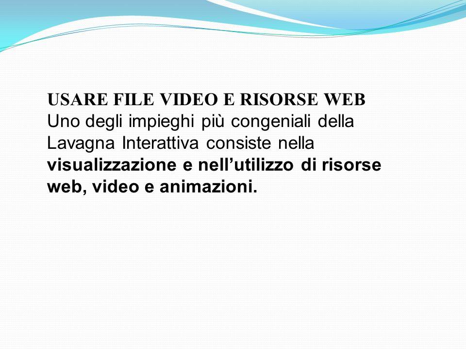 USARE FILE VIDEO E RISORSE WEB