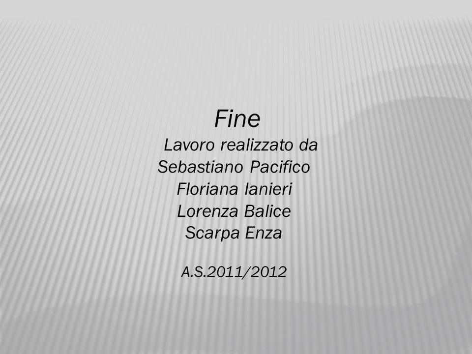 Fine Lavoro realizzato da Sebastiano Pacifico Floriana Ianieri