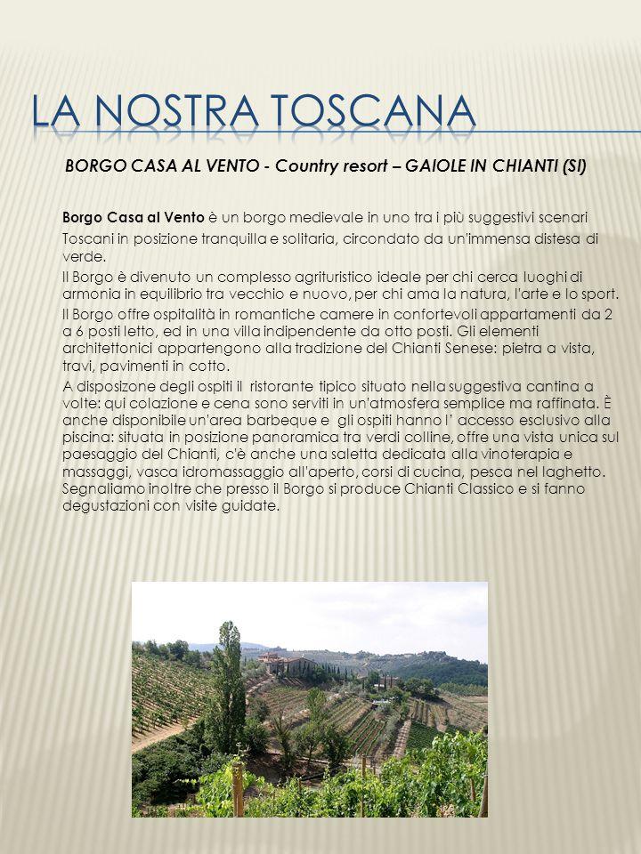 BORGO CASA AL VENTO - Country resort – GAIOLE IN CHIANTI (SI)