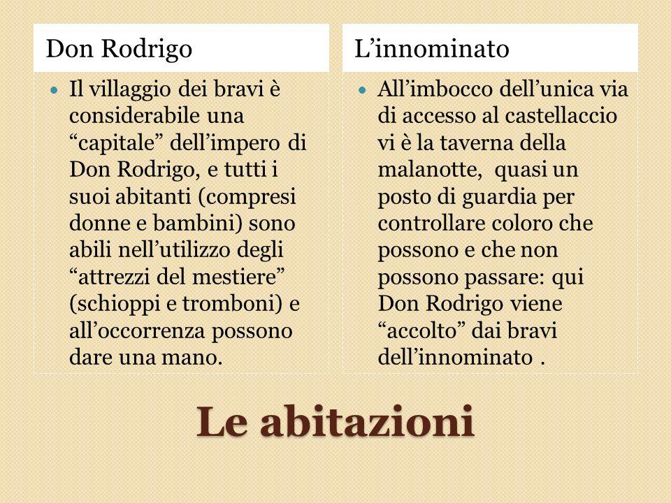 Le abitazioni Don Rodrigo L'innominato