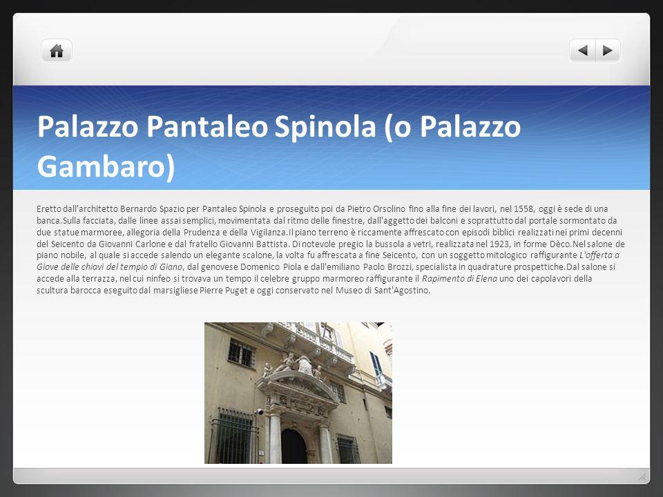 Palazzo Pantaleo Spinola (o Palazzo Gambaro)