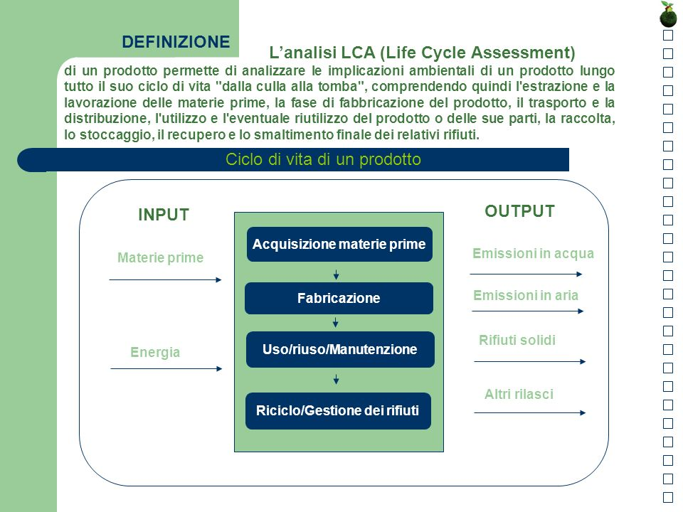 L'analisi LCA (Life Cycle Assessment)