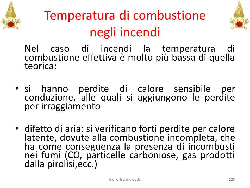 Temperatura di combustione negli incendi
