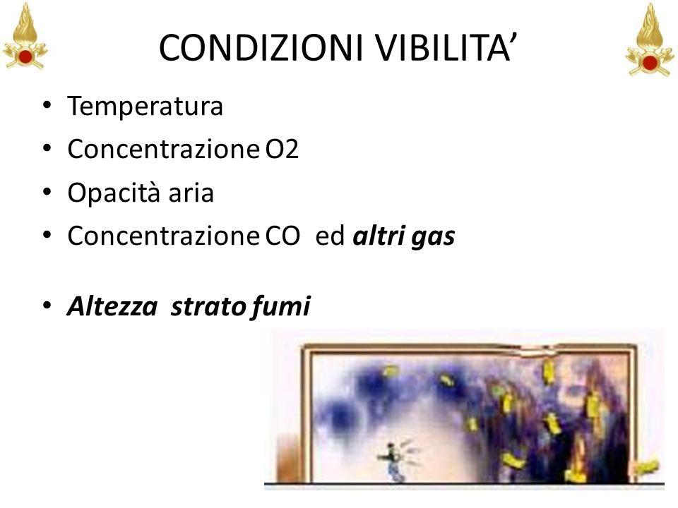 CONDIZIONI VIBILITA' Temperatura Concentrazione O2 Opacità aria