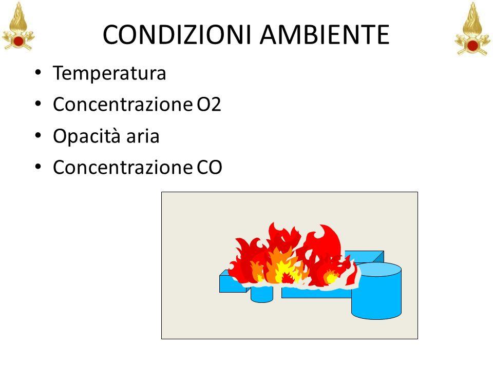 CONDIZIONI AMBIENTE Temperatura Concentrazione O2 Opacità aria