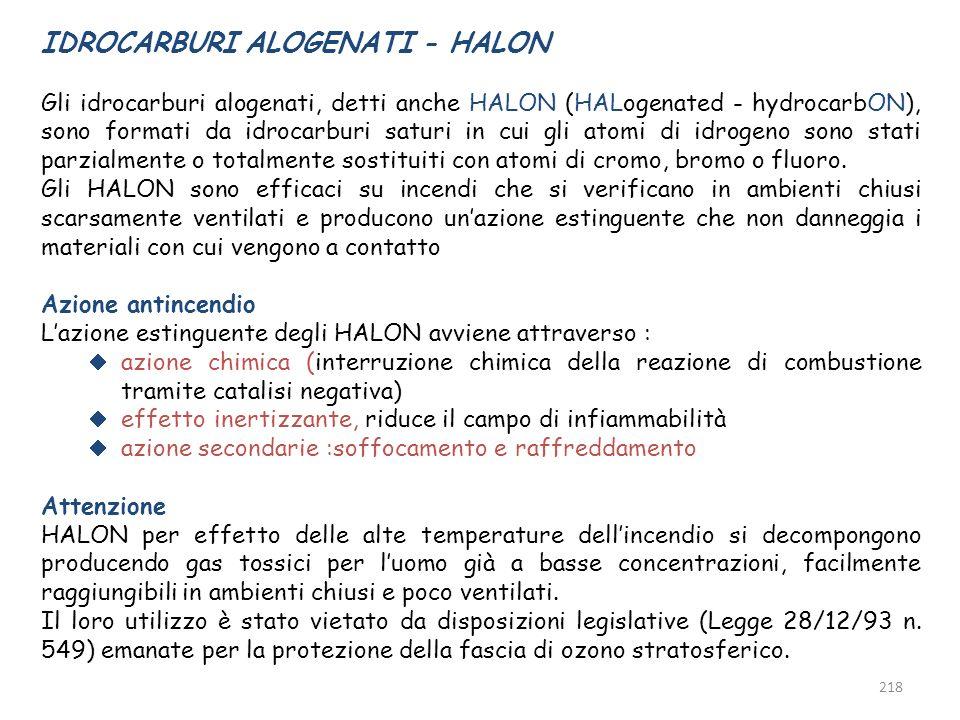 IDROCARBURI ALOGENATI - HALON