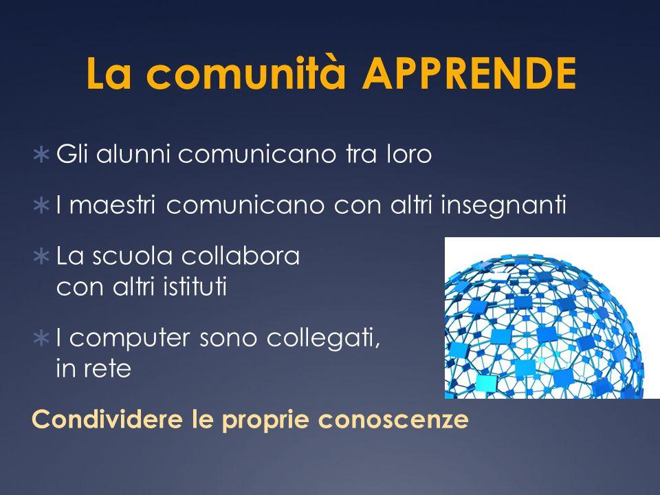 La comunità APPRENDE Gli alunni comunicano tra loro