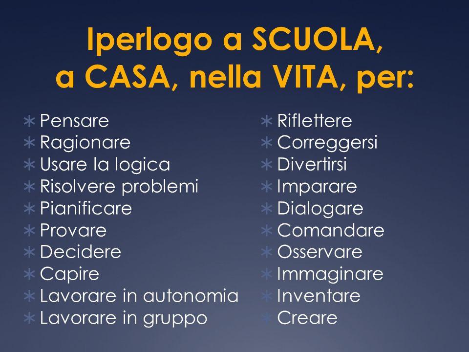 Iperlogo a SCUOLA, a CASA, nella VITA, per: