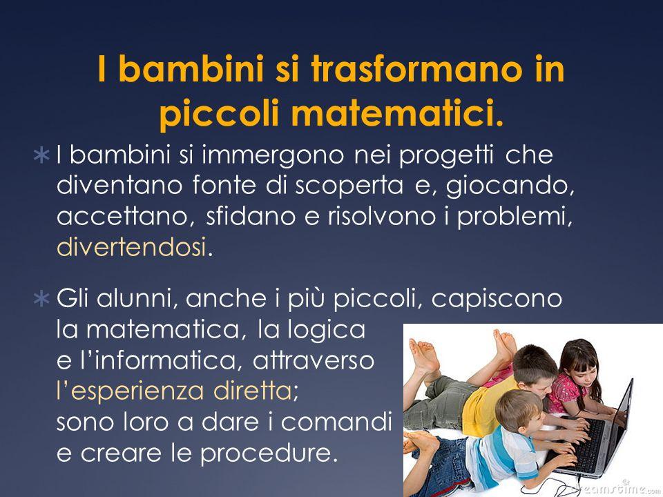 I bambini si trasformano in piccoli matematici.