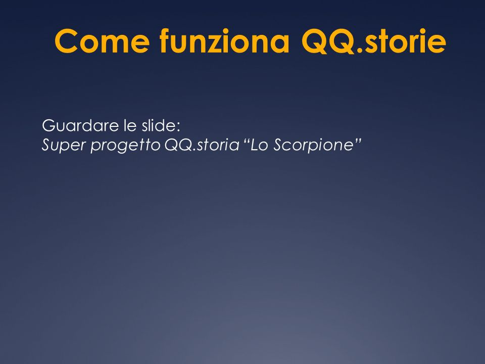 Come funziona QQ.storie