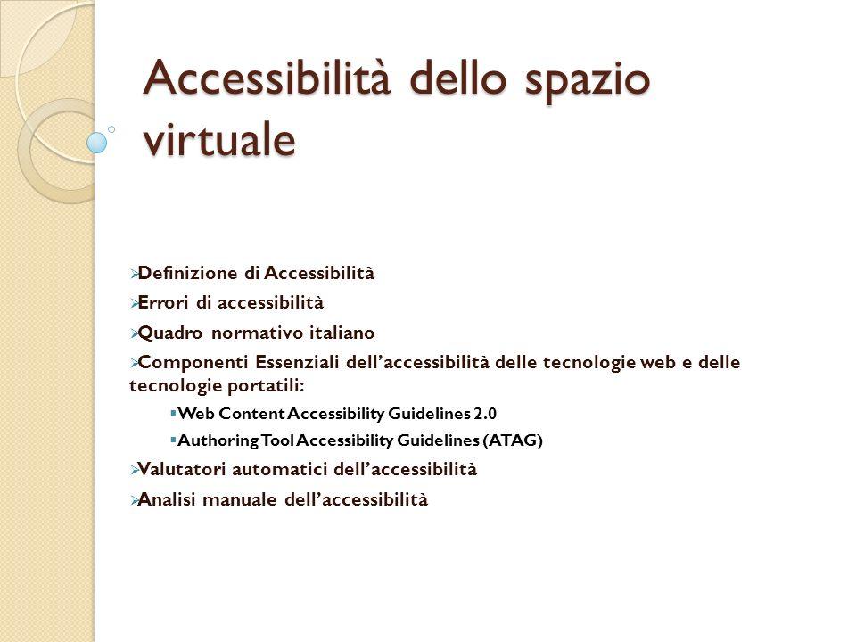 Accessibilità dello spazio virtuale