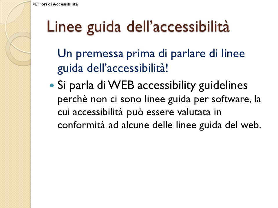 Linee guida dell'accessibilità