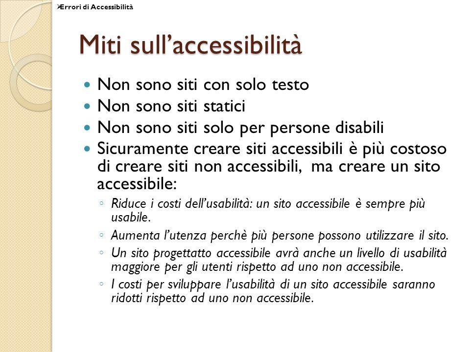 Miti sull'accessibilità