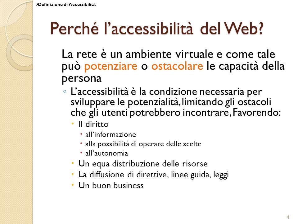 Perché l'accessibilità del Web