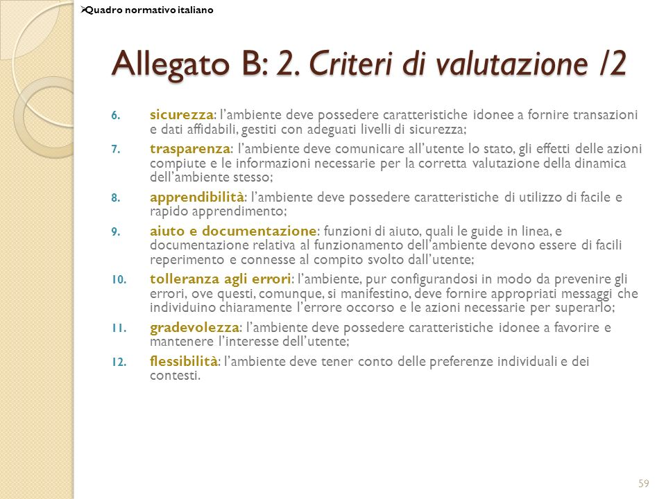 Allegato B: 2. Criteri di valutazione /2