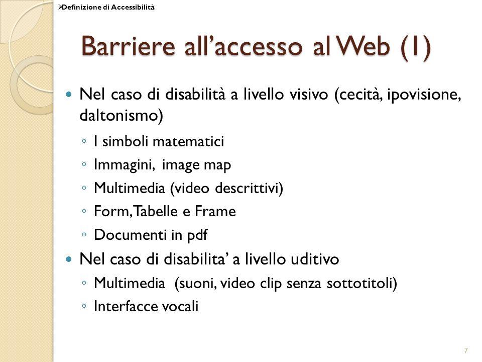 Barriere all'accesso al Web (1)