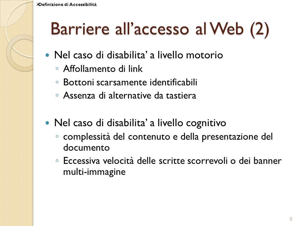 Barriere all'accesso al Web (2)