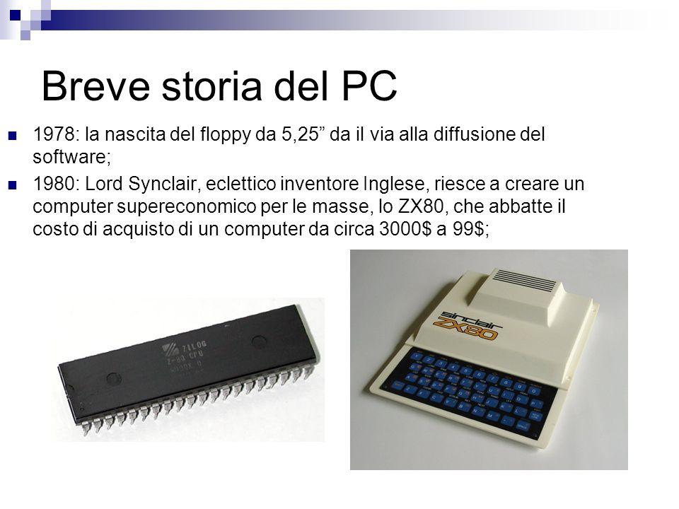 Breve storia del PC 1978: la nascita del floppy da 5,25 da il via alla diffusione del software;