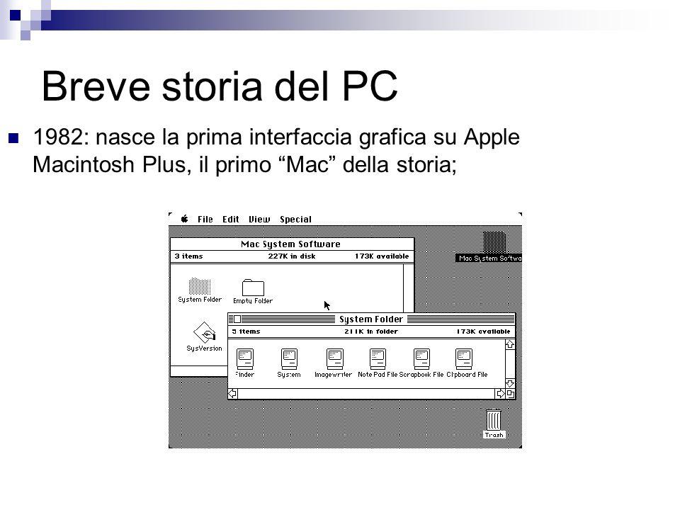 Breve storia del PC 1982: nasce la prima interfaccia grafica su Apple Macintosh Plus, il primo Mac della storia;