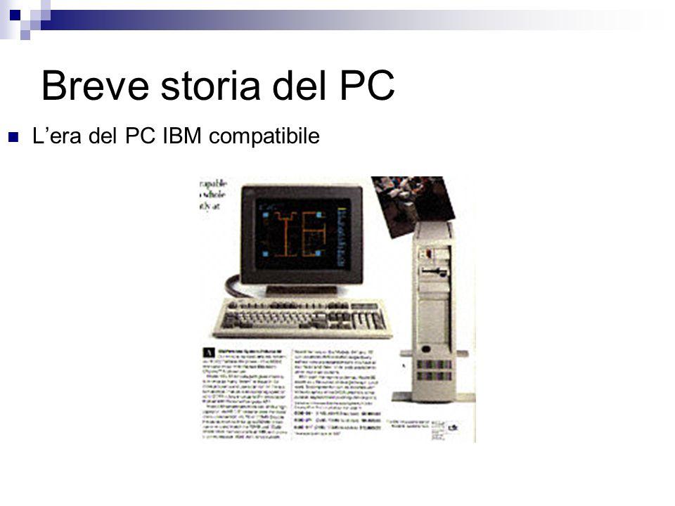 Breve storia del PC L'era del PC IBM compatibile