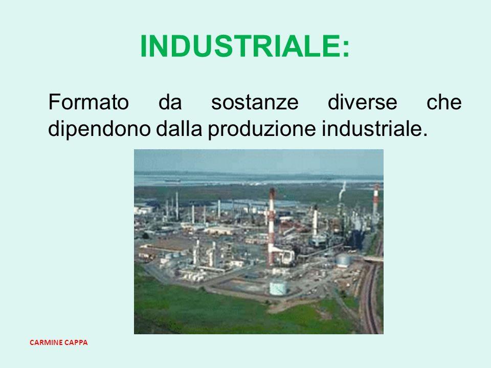 INDUSTRIALE: Formato da sostanze diverse che dipendono dalla produzione industriale. CARMINE CAPPA