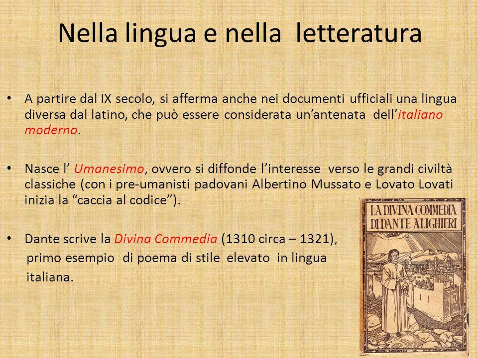 Nella lingua e nella letteratura