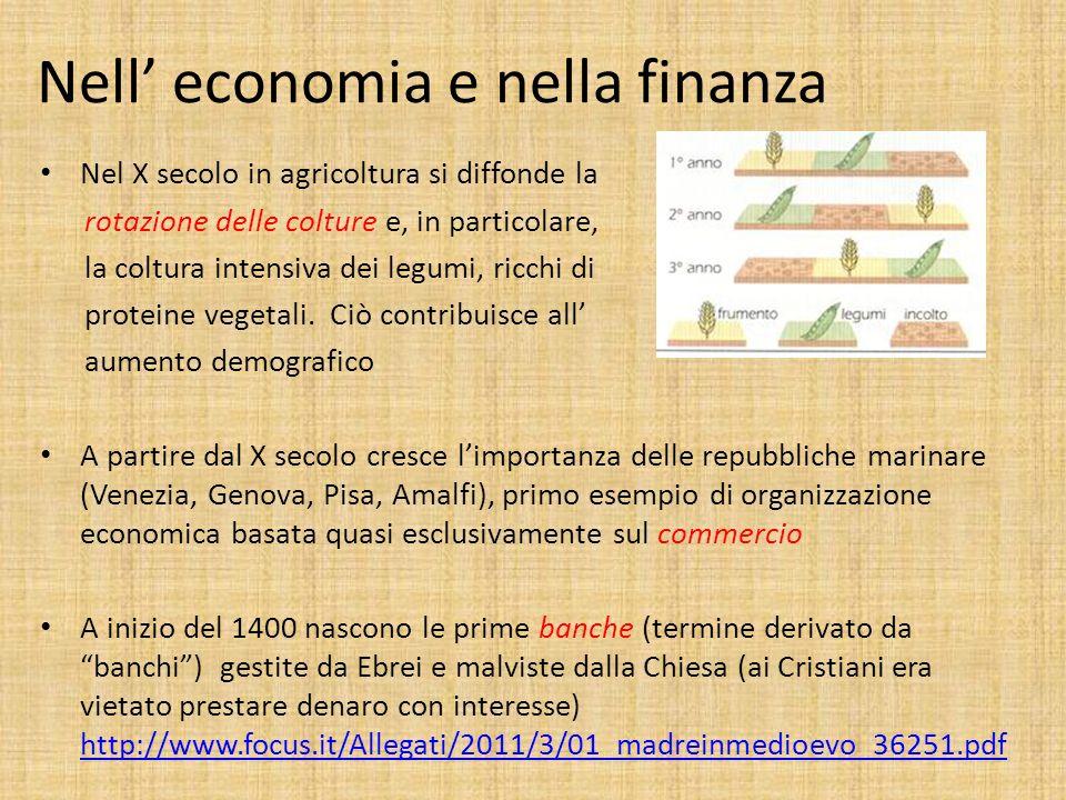 Nell' economia e nella finanza