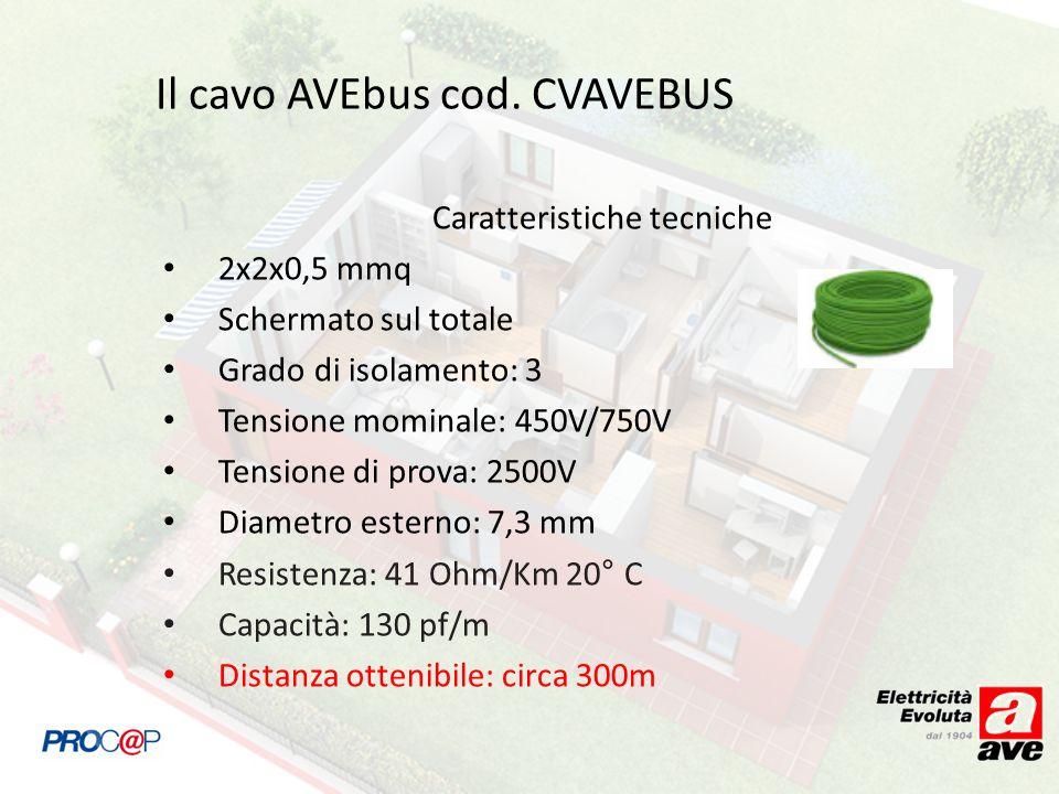 Il cavo AVEbus cod. CVAVEBUS