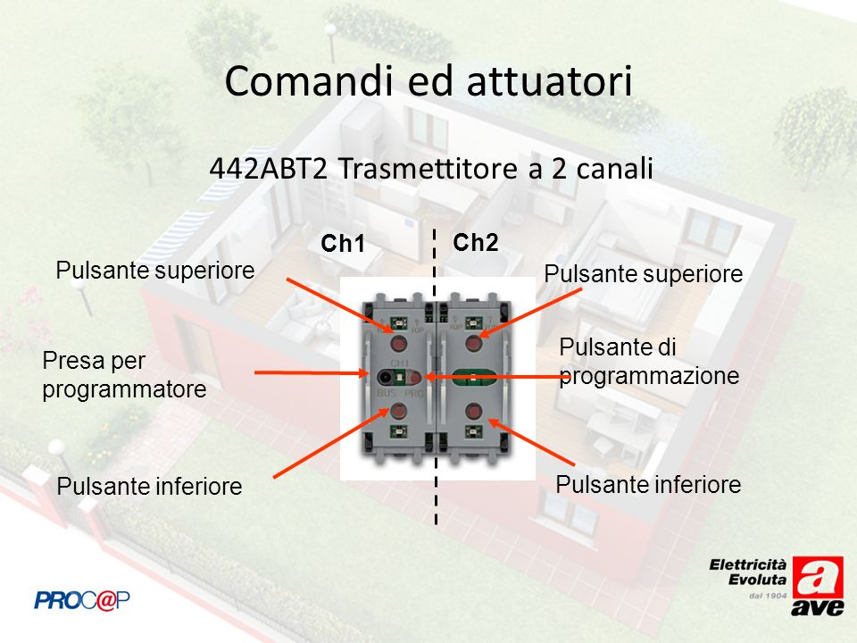 442ABT2 Trasmettitore a 2 canali