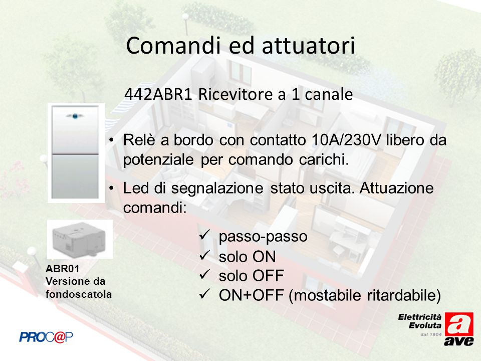 442ABR1 Ricevitore a 1 canale