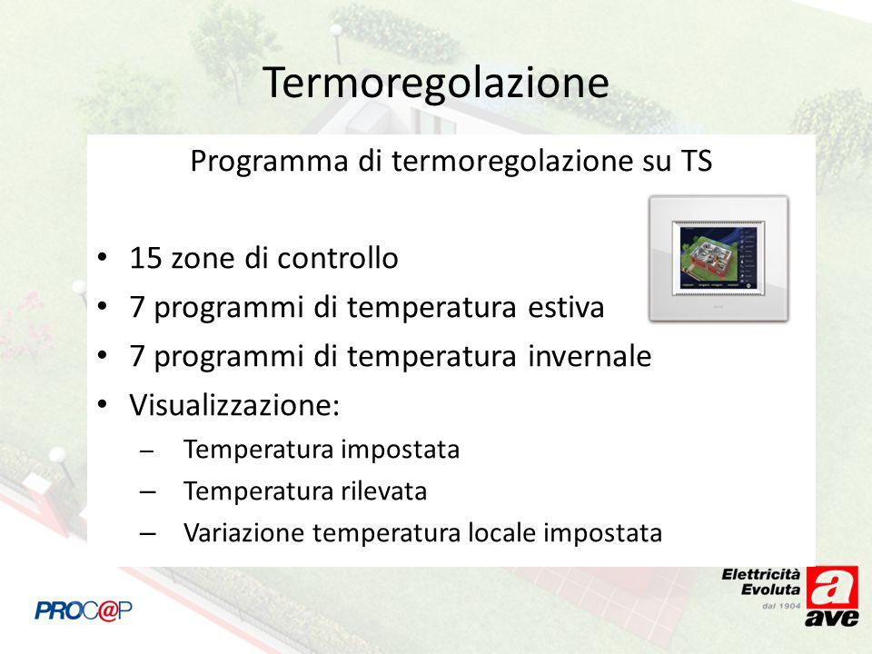 Programma di termoregolazione su TS