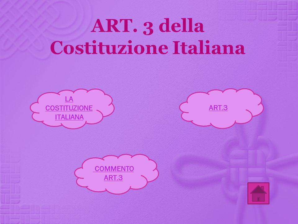 ART. 3 della Costituzione Italiana