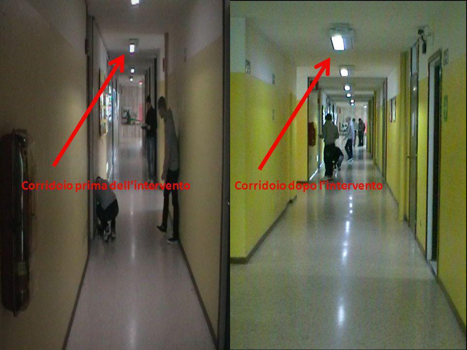 Corridoio prima dell'intervento