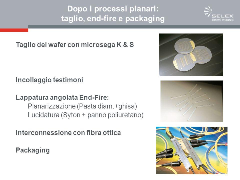 Dopo i processi planari: taglio, end-fire e packaging