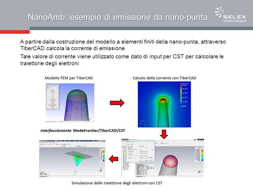 NanoAmb: esempio di emissione da nano-punta