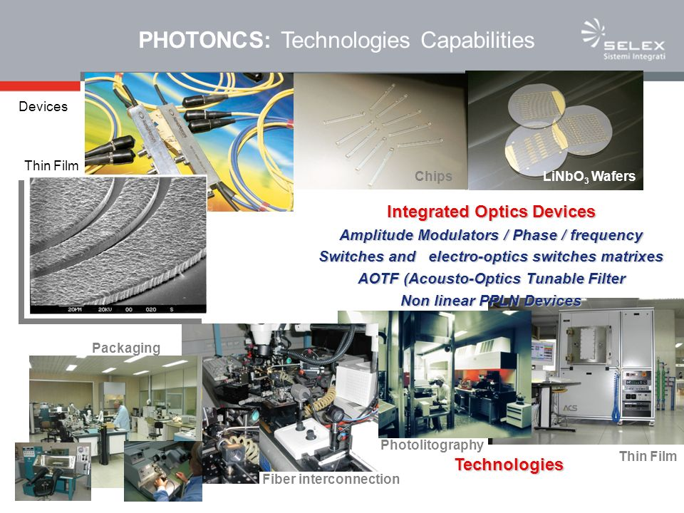 PHOTONCS: Technologies Capabilities