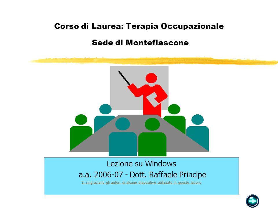 Corso di Laurea: Terapia Occupazionale Sede di Montefiascone