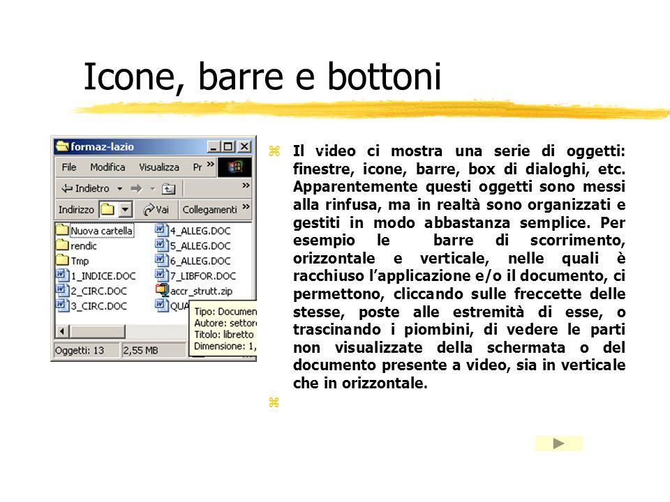 Icone, barre e bottoni