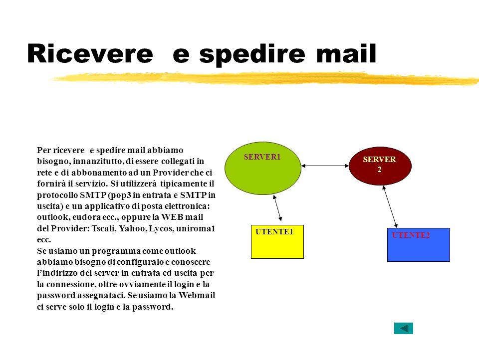 Ricevere e spedire mail