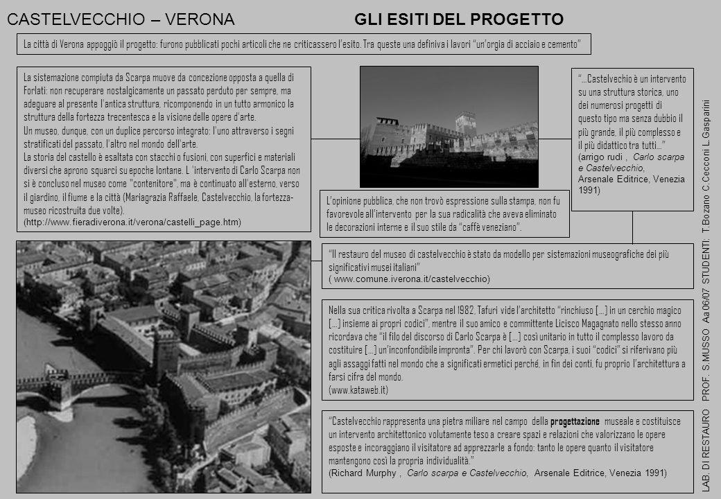 CASTELVECCHIO – VERONA GLI ESITI DEL PROGETTO