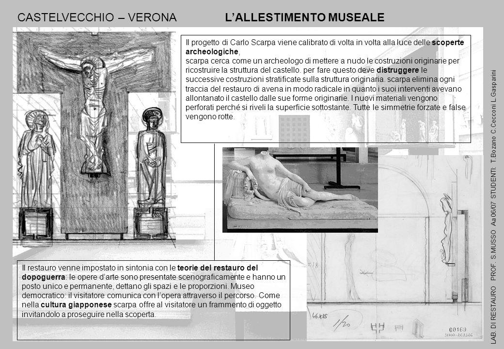 CASTELVECCHIO – VERONA L'ALLESTIMENTO MUSEALE