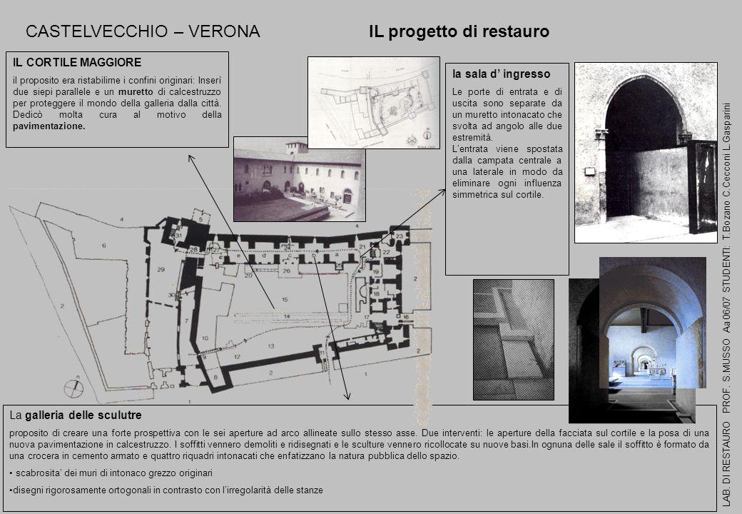 CASTELVECCHIO – VERONA IL progetto di restauro