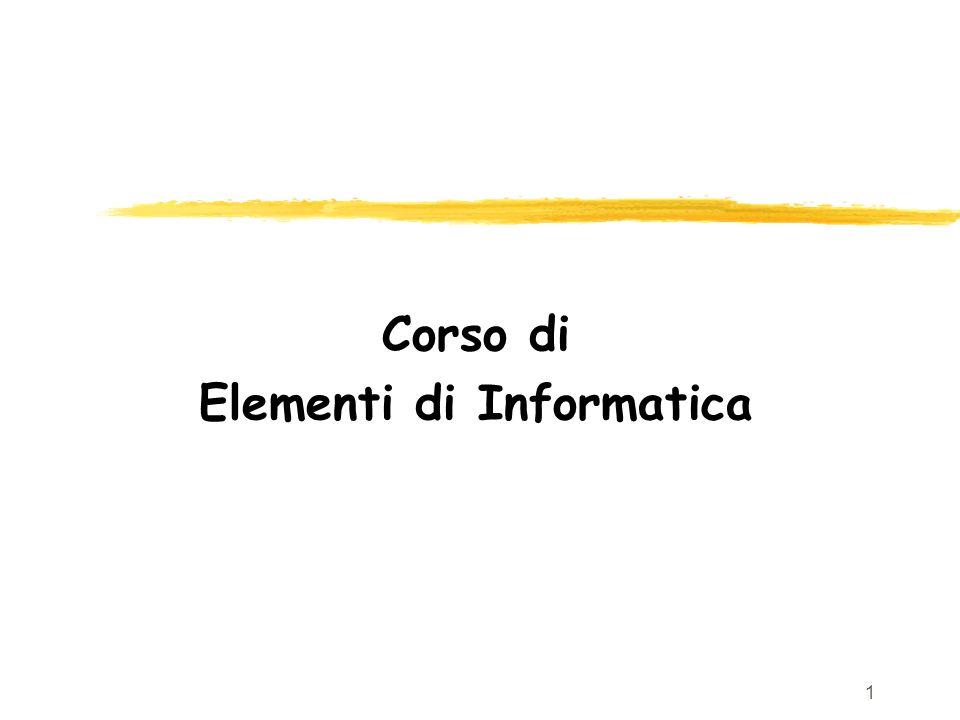 Corso di Elementi di Informatica