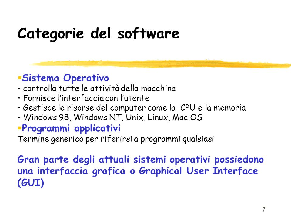 Categorie del software